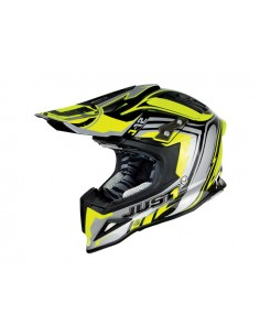 Casco JUST ONE J12 flame yellow black