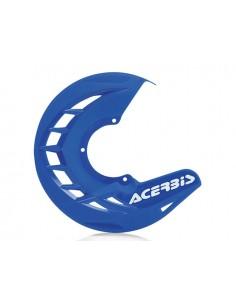 Protezione disco anteriore blu