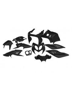 Set carene da 11 pezzi STR8 nere x Yamaha Aerox