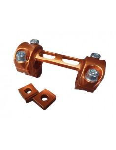 Supporti manubrio Factory CNC arancio x KTM exc / sx