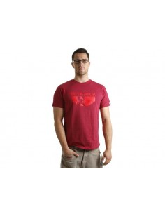 T-Shirt SCOOTER-ATTACK rossa-rossa, Taglia L