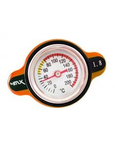 Tappo radiatore arancione da 1.8 bar con termometro by 4MX x KTM, HUSQVARNA 14-15, HUSABERG, BETA, GASGAS, SHERCO
