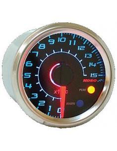 Termometro KOSO GP Style (150° C) Ø 48mm sfondo effetto carbonio