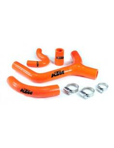 Tubazioni siliconiche arancio per Ktm exc 400/450/530 08/10