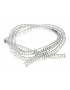 Tubo trasparente con spirale in acciaio MOTOFORCE 10x15mm