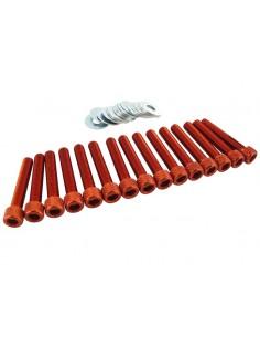 Viti carter STR8 arancio in alluminio x Piaggio-Gilera