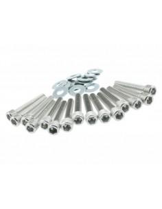 Viti carter STR8 argento in alluminio x Piaggio-Gilera