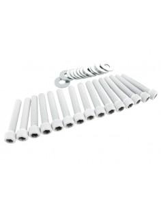 Viti carter STR8 bianche in alluminio x Piaggio-Gilera
