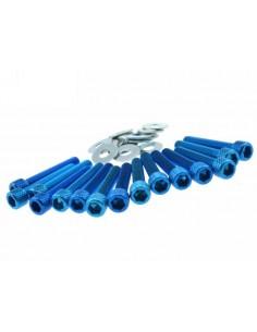 Viti carter STR8 blu in alluminio x Piaggio-Gilera