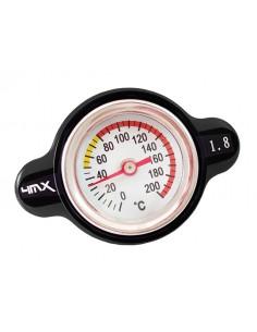Tappo radiatore nero da 1.8 bar con termometro by 4MX x KTM, HUSQVARNA 14-15, HUSABERG, BETA, GASGAS, SHERCO, HM 50