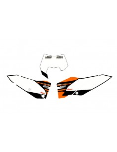 Adesivi tabelle factory fluo 2008 KTM exc 2008/11 sx 2007/2010 bianche