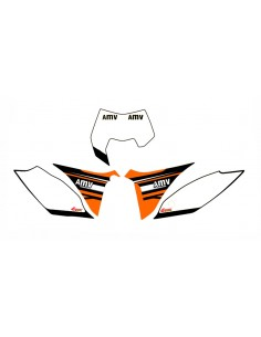 Adesivi tabelle factory fluo 2012 KTM exc 2012/2013 sx 2011/2012 bianche