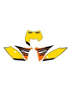 Adesivi tabelle factory fluo 2012 KTM exc 2012/2013 sx 2011/2012 gialle