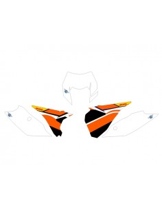 Adesivi tabelle factory fluo 2014 KTM exc 2014 bianche ( grafica nera )