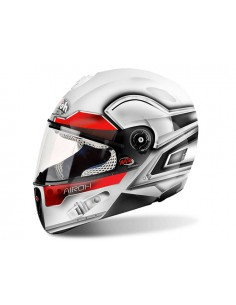 Casco Mr strada AIROH 2017 Lunar white gloss Junior