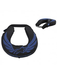 Collare ALPINESTARS adulto neck roll nero/blu