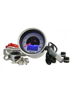 Conta km KOSO CHROME Style (160 Km/h) Ø 64mm retroilluminato blu