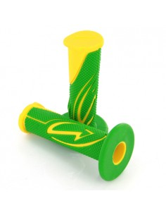 Coppia manopole BCD FUNKY CASUAL verde/gialla