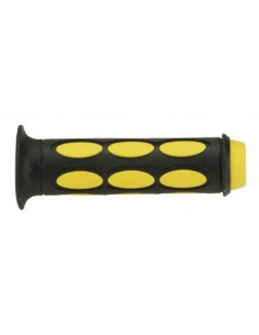 Coppia manopole scooter DOMINO nero/giallo