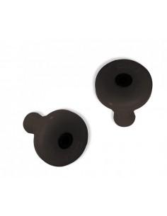 Coppia tappi manubrio in plastica neri d.12mm