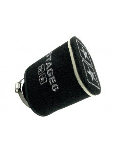 Filtro aria STAGE6 Double-Layer nero ovale imbocco Ø 70mm