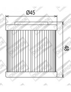 Filtro olio CHAMPION x Husqvarna 410-610 TE-TC (HF154)