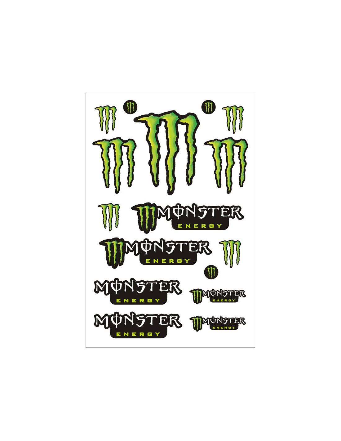 Foglio adesivi monster energy 30x45 cm - Fogli adesivi per rivestire mobili ...