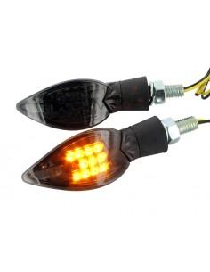 Frecce STR8 Curve nere a LED omologate CE