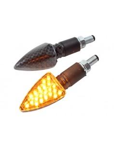 Frecce STR8 R1 LED omologate effetto carbonio