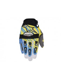 Guanti ALPINESTARS 2015 techstar cyan/yellow