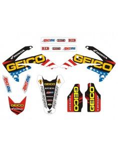 Kit adesivi grafiche Geico HONDA crf 250 10/11 crf 450 09/11