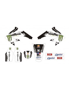 Kit adesivi grafiche Monster DC White HM 50 2006/2015