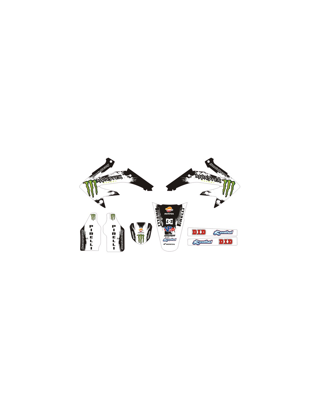 Kit Adesivi Grafiche Monster Dc White Hm 50 2006 2018
