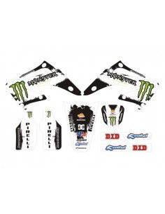 Kit adesivi grafiche Monster White HM 2013 HM 50 03/05 CR 125/250 03/07