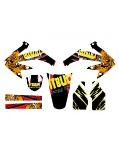 Kit adesivi grafiche Pit Bull yellow inverted HM 50 2006/2015