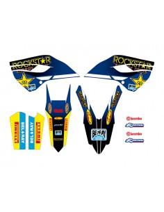 Kit adesivi grafiche Rockstar blue Husqvarna 2014