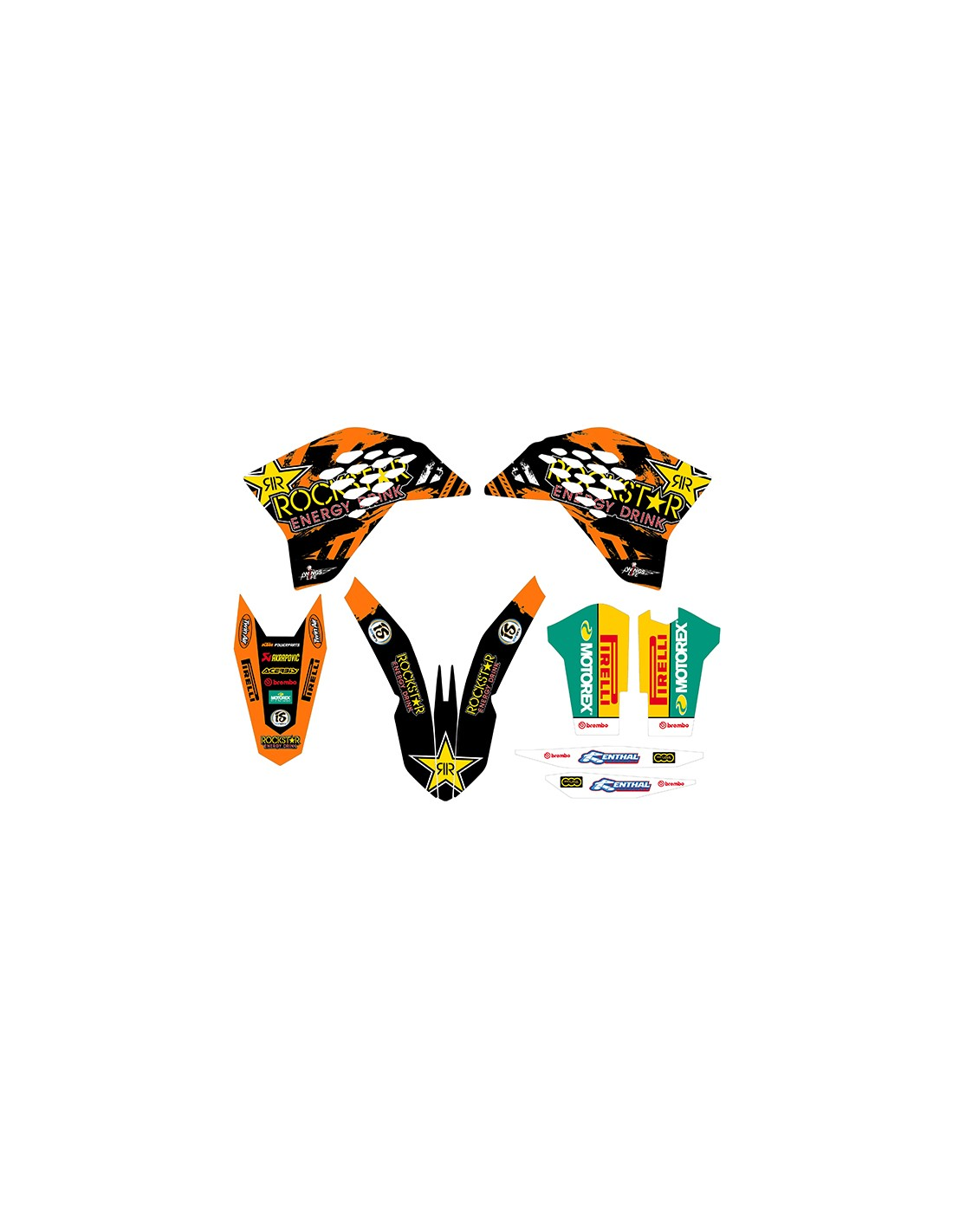 Kit Adesivi Grafiche Rockstar KTM Exc 2008 2011 Sx 2007 2010