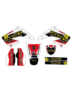 Kit adesivi grafiche Rockstar red inverted HM 50 03/05 CR 125/250 03/07