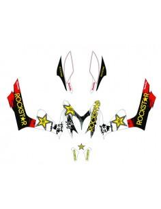 Kit adesivi grafiche Yamaha Aerox / MBK Nitro Rockstar full combo