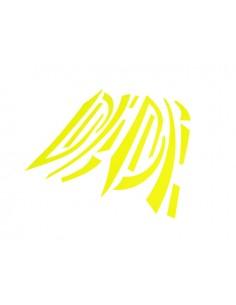 Kit adesivi R&D Replica giallo fluo x Piaggio Zip 2° serie