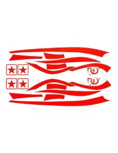 Kit adesivi R&D Replica rosso Fluo x Piaggio Zip MKI