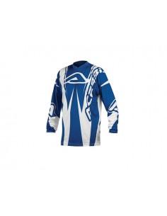 Maglia moto brand blu tl.m