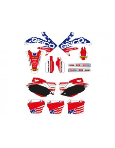 Maxi kit adesivi grafiche mx of nations HONDA crf 250 10/11 crf 450 09/11