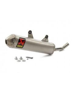 Silenziatore AKRAPOVIC Slip-on line per Ktm 250 SX 17 250/300 EXC 17