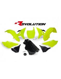Kit plastiche giallo fluo neon Yamaha RACETECH REVOLUTION x YZ 125/250 2002/2017