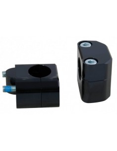 Coppia adattatori manubri Ø 28 per piastre manubrio Ø 22 mm