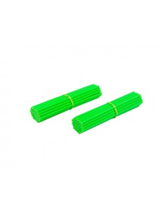 Tubi raggi colorati SPOKE SKINS 18 - 19 - 21 fluorescent green