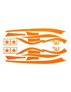 Kit adesivi R&D Replica arancio Fluo x Piaggio Zip MKI