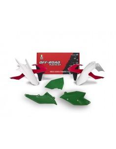 Kit plastiche RACETECH rosso verde x KTM EXC-EXCF-XC/W 250-300-350-450-500 2017 XC/W 125-150 2017 5 Pezzi