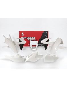 Kit plastiche RACETECH bianco x KTM EXC-EXCF-XC/W 250-350-450-500 2017-2018 XC/W 125-150 2017 2018 6 Pezzi